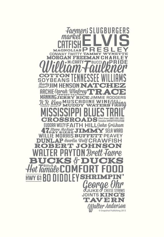 Mississippi Poster by SocialSouth on Etsy, $40.00