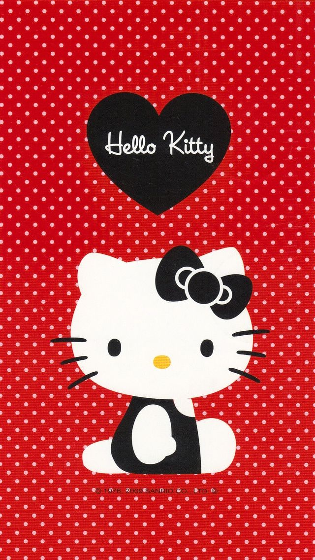 Red hello kitty #iPhone #5s #Wallpaper | Visit http://www.ilikewallpaper.net/iphone-5-wallpaper/ to get more wallpapers .