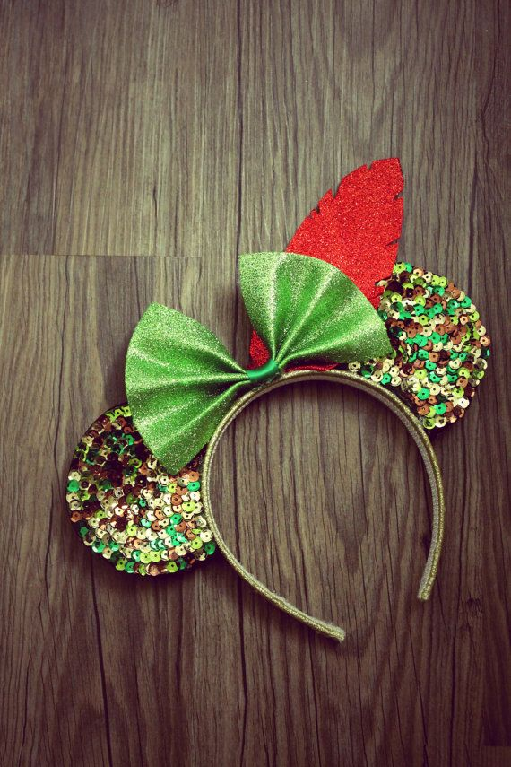 Peter Pan inspired Mickey Mouse Ears Disney by NerdtasticCrafts