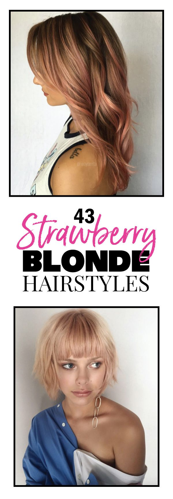 With summer just around the corner, what better way to usher in the warmer months than with a bold new hair color. Strawberry blonde to be exact. It's not quite as risky as pink, but you still get all the added perks of having completely transformed your look with something so fun and invigorating that you'll wonder why you didn't try it sooner. We've scoured the depths of Instagram and raided our favorite stylist's coffers to bring to you some truly fantastic examples of strawberry blonde…