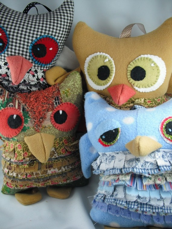 Owl stuffed animals - handmade and totally cute!