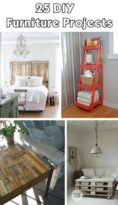 25 DIY Furniture Projects- I like the boxes under the bed idea for more storage