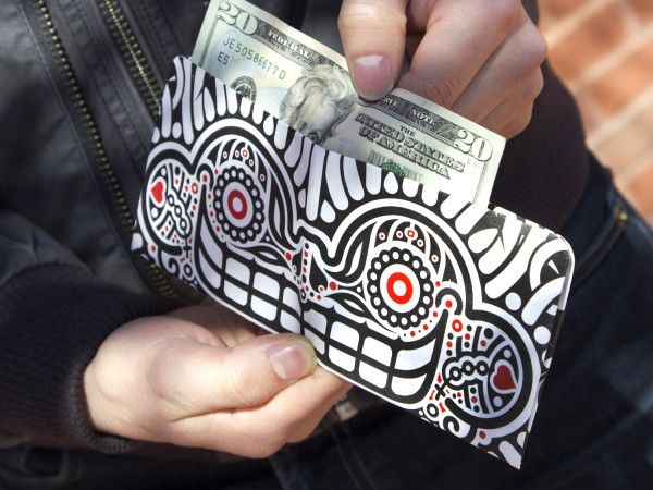 """A wallet so cool that you may just get """"comp'd"""" as a thank you for to opportunity to admire your billfold.      Tyvek Wallet from Paperwallet, Cool Wallets"""