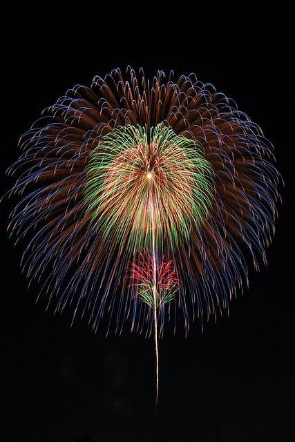 Japanese fireworks, Aichi, Japan