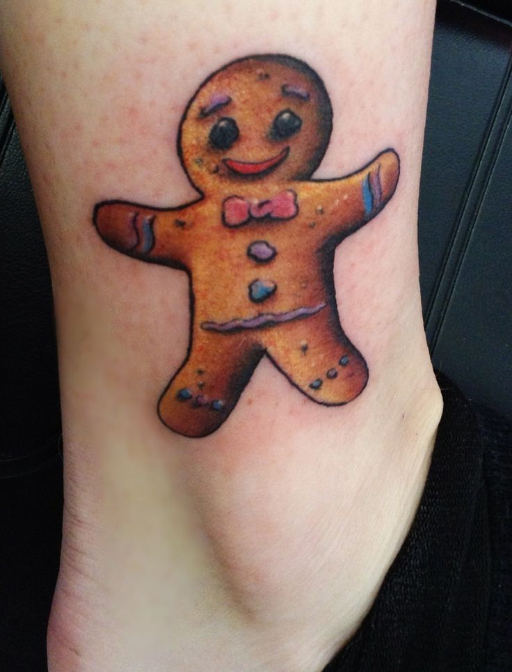 Gingerbread man tattoo for my grandmother