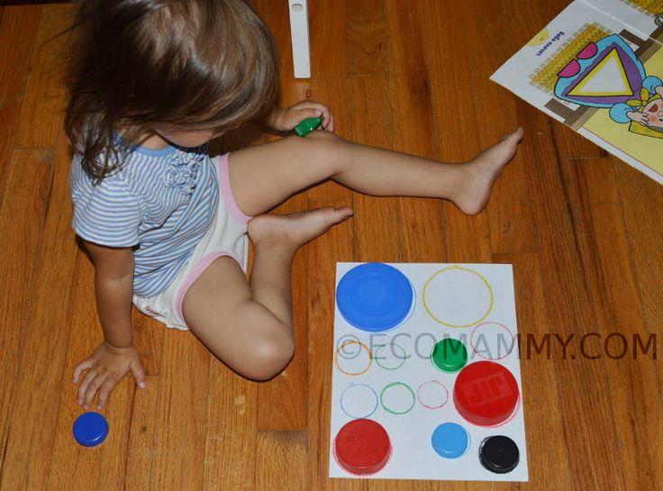 развивающие игрушки своими руками для ребенка 2 лет: крышки от бутылок