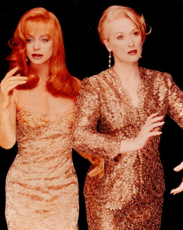 Like one of my all time favourites! Goldie Hawn, Meryl Streep in Death becomes her...