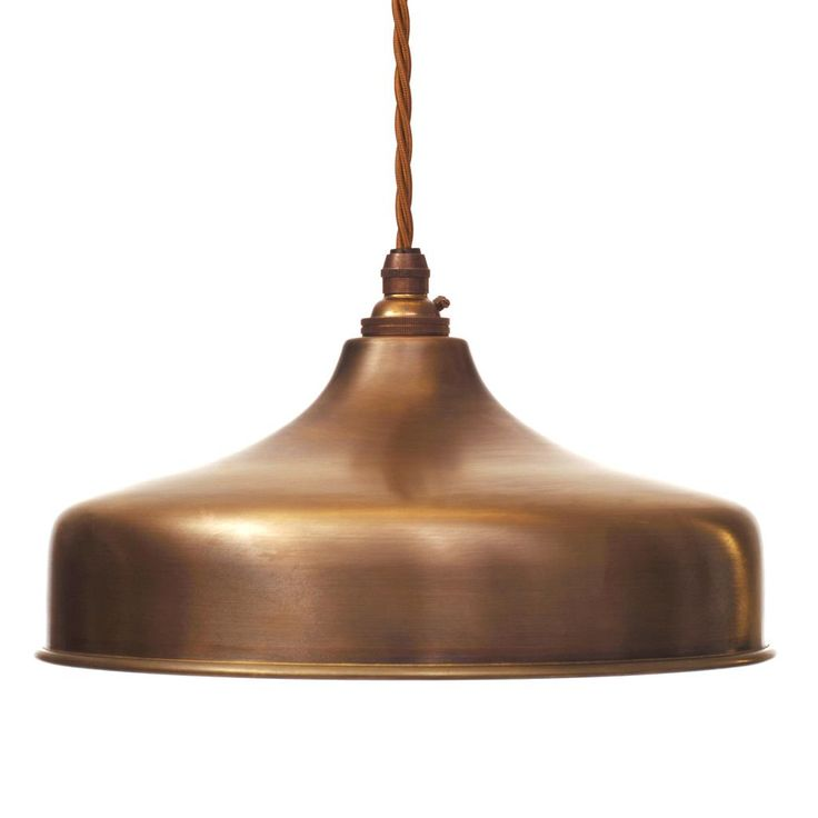Exeter Pendant in Antiqued Brass
