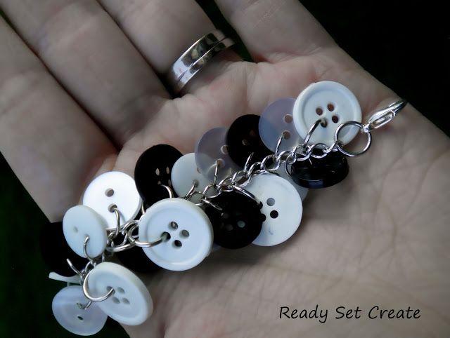 jewelry making: button bracelet tutorial | make handmade, crochet, craft