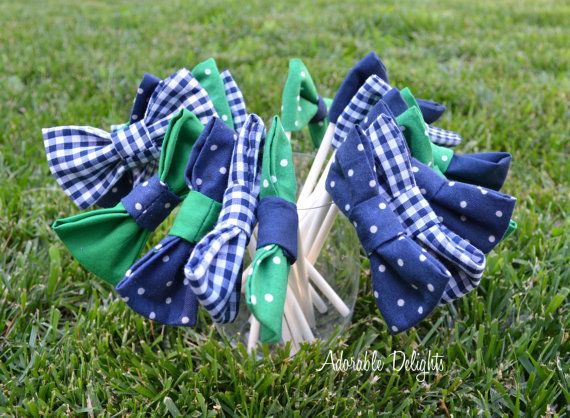 Set Of 8   Baby Shower Bowtie Decorations   (Bow Ties) On Sticks