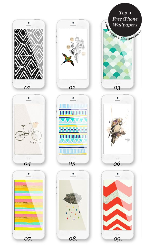 Maiko Nagao - diy, craft, fashion + design blog: Freebie: 9 gorgeous iPhone wallpapers
