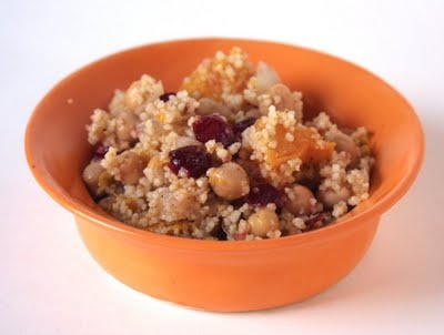 Cous Cous Salad with Butternut Squash and Cranberry