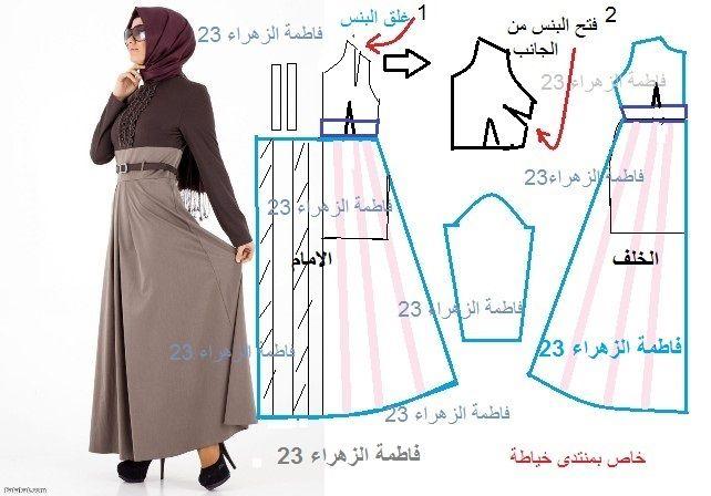 باترونات للحجابات و العبايات - منتدى خياطة