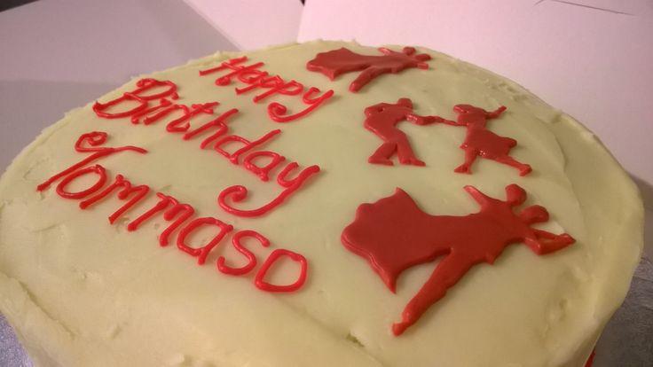 Ballroom and latin dancing birthday cake