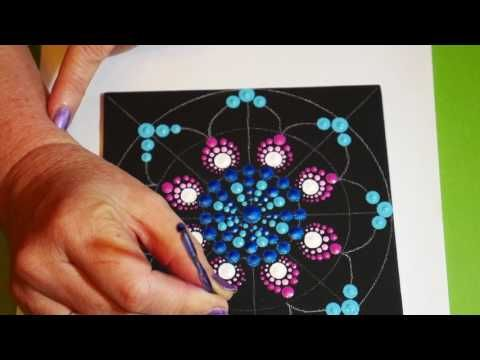 13 How To Paint Rock Mandalas 12 Stained Glass Design