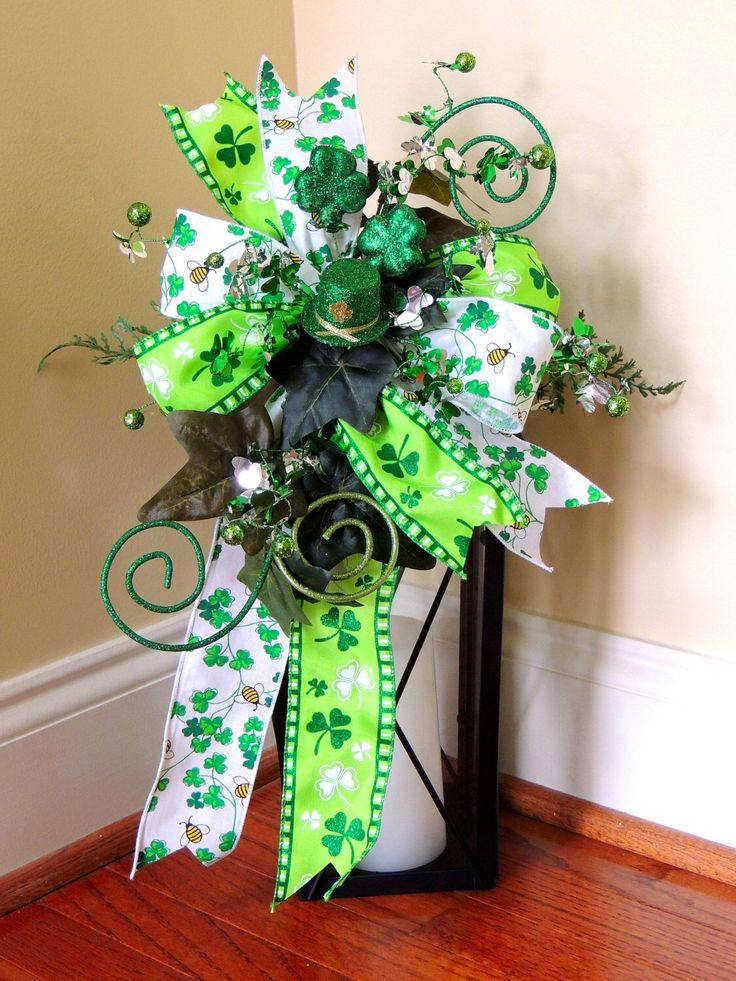 Lucky Shamrock st Patricks day Lantern Swag Top Hat St Patrick's day Lantern Swag Tabletop Arrangement Decoration door hanger by SparkleWithDesigns on Etsy https://www.etsy.com/listing/266981618/lucky-shamrock-st-patricks-day-lantern