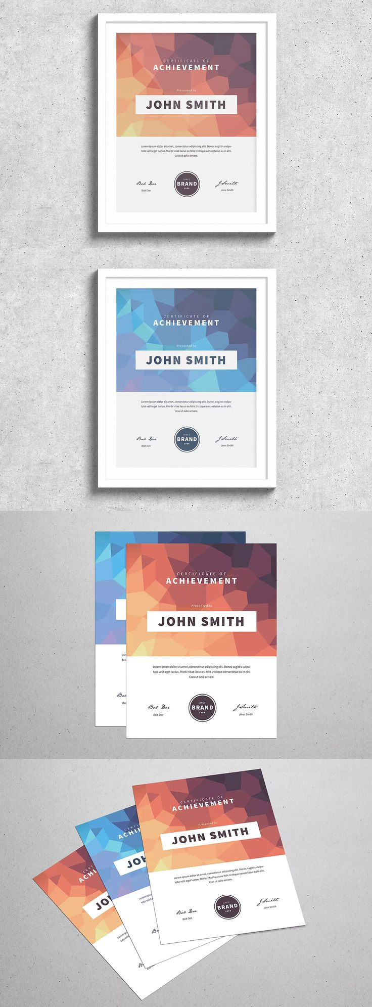 46 best certificate templates images on pinterest certificate modern certificate template ai psd yelopaper Gallery
