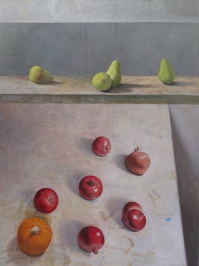 Six Pomegranates, 2011   Oil on canvas   42 x 32 inches