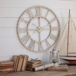 Nástěnné hodiny Industrial White, 70 cm