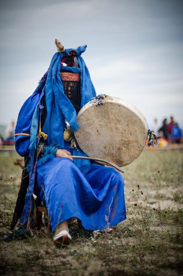 "Siberian shaman, lake Baikal region, Siberia, Russia. Why do they always say ""female shaman"" like that's some kind of novelty or oddity?"
