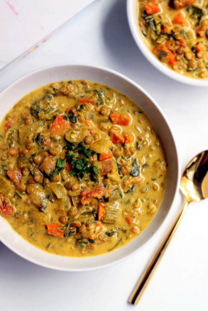 This luxurious, comforting Golden French Lentil Soup is truly a meal in a bowl! It's loaded with protein-packed lentils, vegetables, greens, and warming spices. Serve it as the main course with crusty whole grain bread for a healthy, filling, vegan and gluten-free meal the whole family will love.