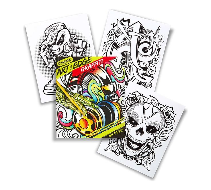 Crayola Colouring Book Art With Edge 40 Page Graffiti