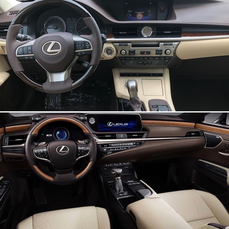Toyota Camry 2018 Interior >> Compare the 2018 Lexus ES to the updated 2019 model that's ...