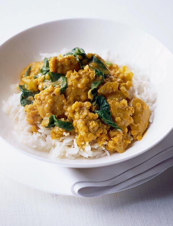 Quick chicken and lentil curry