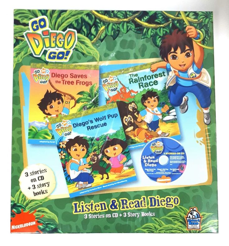 Go Diego Go Nickelodeon Listen & Read - 3 Stories on CD and 3 Story Books - New | eBay