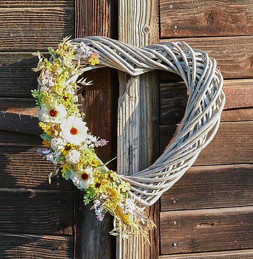 Hydrangea / Veľké srdce s bielou cíniou