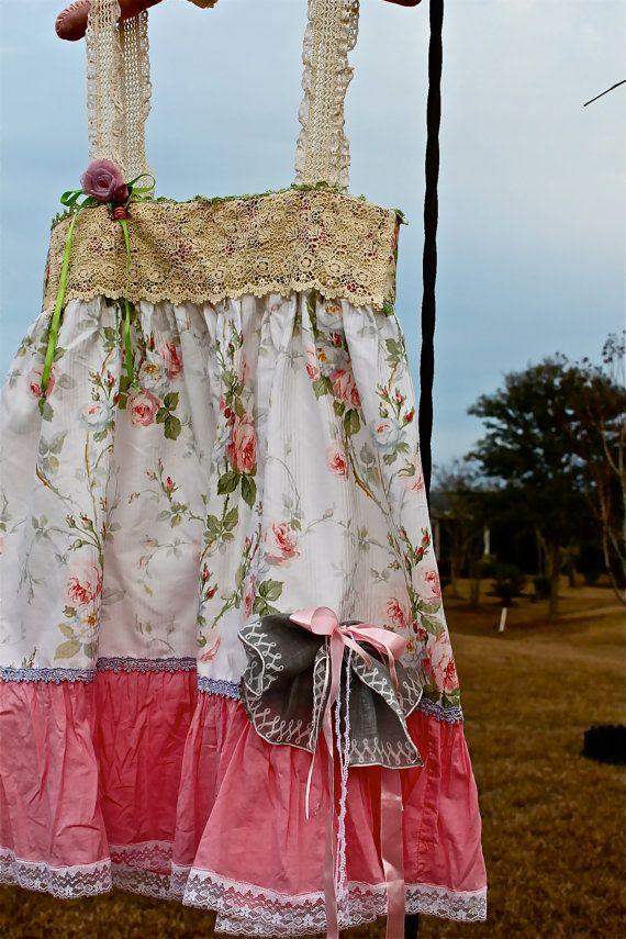 Boho romántico rosas vestido, estilo francés Paris, ropa exclusiva, pueblo libre moda gitana vaquera Mori