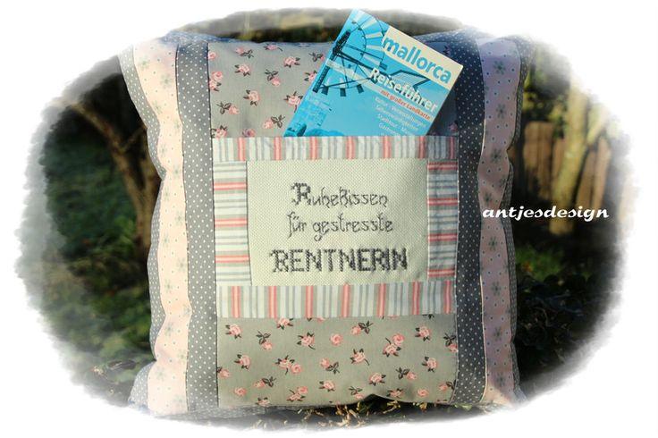 Kissen - Geschenk  Rentnerin  Kissen Shabby LANDHAUS  - ein Designerstück von antjesdesign bei DaWanda