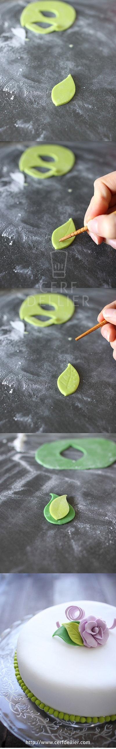 [Tuto] Réaliser une feuille en pâte à sucre.
