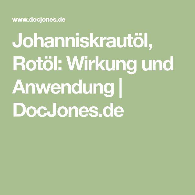 Johanniskrautöl, Rotöl: Wirkung und Anwendung | DocJones.de