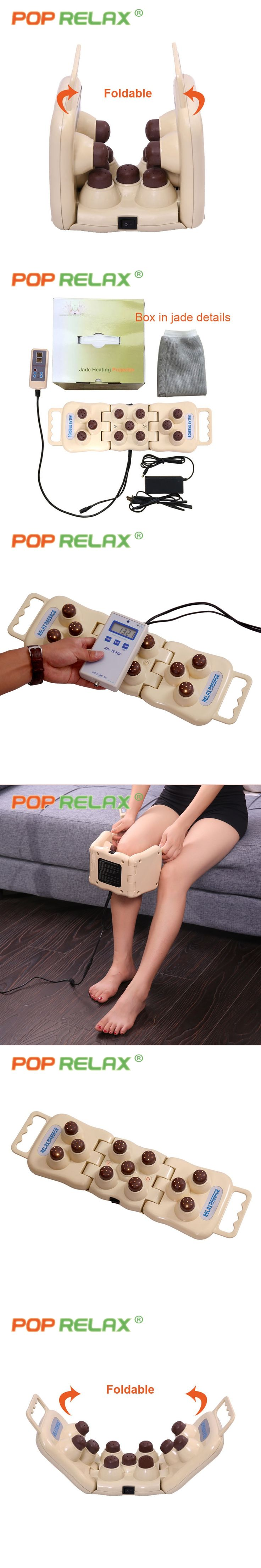 POP RELAX 11 balls tourmaline infrared heater massage roller LED photon light therapy knee device body pain relief ion projector