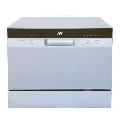 Countertop Dishwasher In Silver With Delay Start And 6 Place