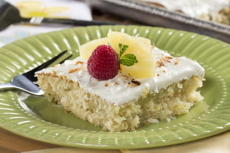 Here's a cake you can share with EVERYONE (really!). Since this tropical-tasting cake is made in a baking sheet, you can bet there's enough to go around.