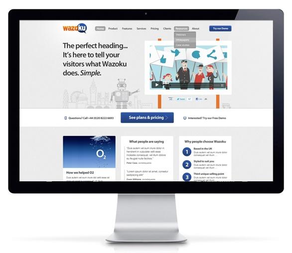 New Wazoku web design by sixredsquares (www.sixredsquares.com)