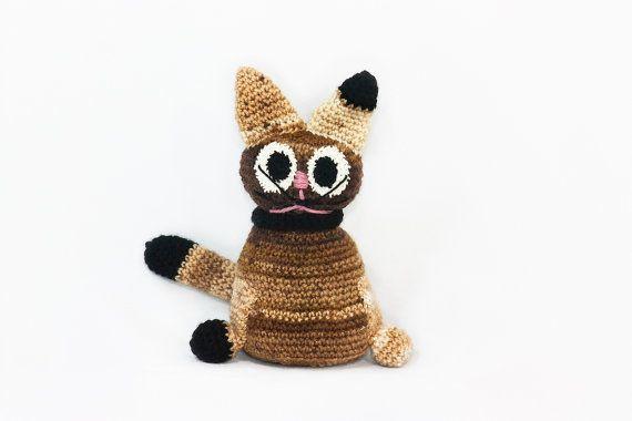 Kitkat the cat dollcrocheted dollkids by BadHatCat on Etsy