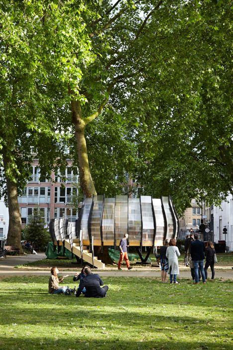 TREExOFFICE, Plaza Hoxton, Festival de Arquitectura 2015 de Londres, Inglaterra - Tate Harmer + Gensler + Natalie Jeremijenko + Schuster+Moseley - foto: Jack Hobhouse