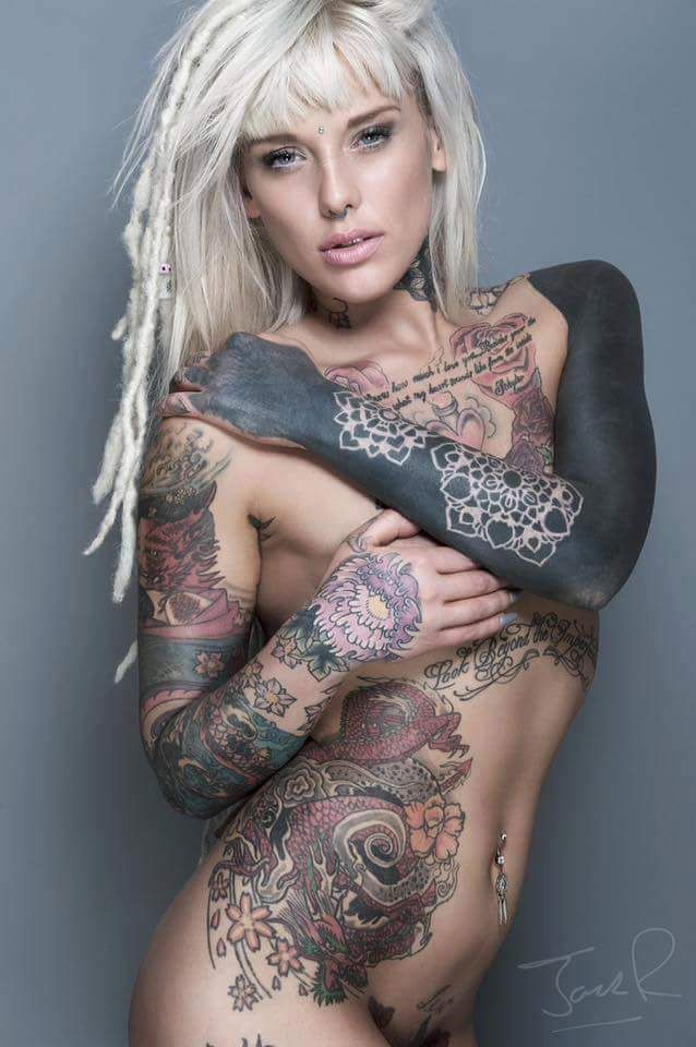 Tattoed naked Women