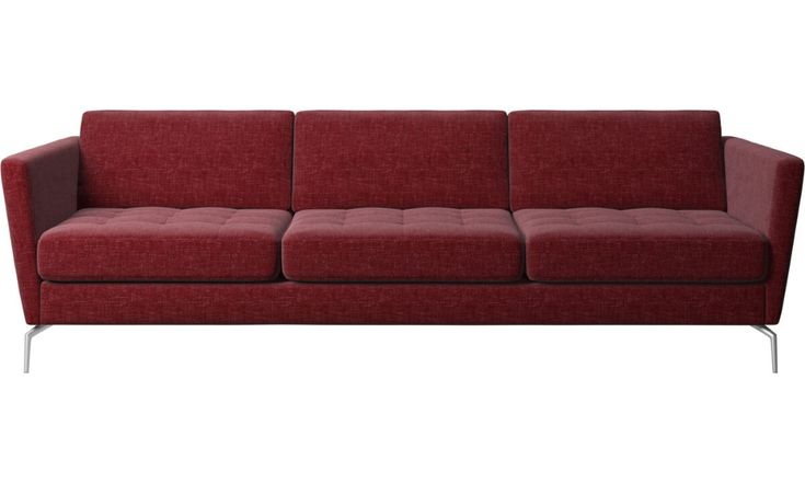 3 seater sofas – Osaka sofa, tufted seat – Red – F…