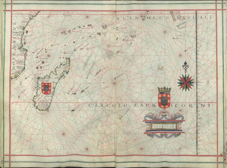 """Il. 171 - 0030 Fernão Vaz Dourado (1520-1580) -  """"Atlas"""" / [Atribuído a Fernão Vaz Dourado]. [Cerca de 1576].   BNP IL. 171"""