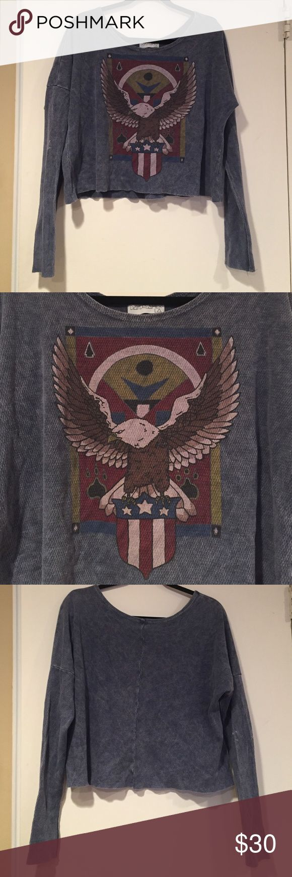 Urban Outfitters Eagle Shirt Urban Outfitters Eagle Shirt. Boxy body with more fitted arms. M/L Urban Outfitters Tops Tees - Long Sleeve