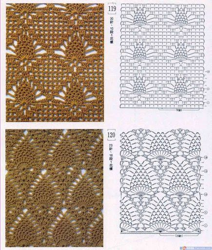 Either of these are lovely variations on the traditional pineapple motif, and would make a lovely hammock.