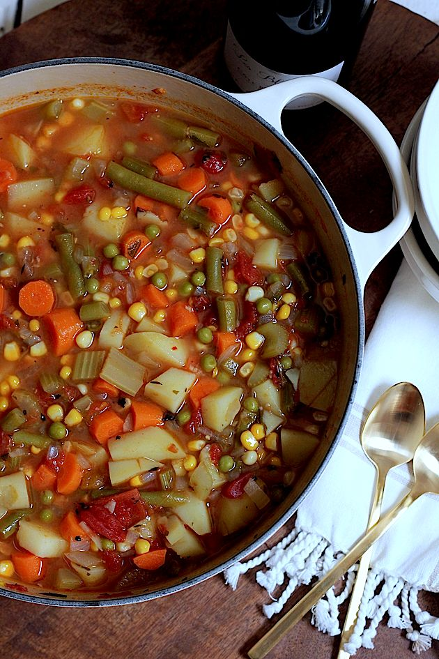 THE BEST SUMMER VEGETABLE SOUP... EVER.