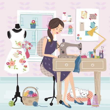 17 best images about sewing clipart on pinterest clip - Maquina para pintar ...