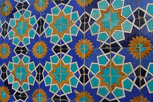 Tiles On The Walls Of The Blue Mosque Of Mazari Sharif