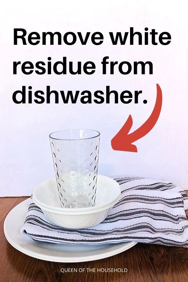 Stop The Dishwasher Leaving White Film On Dishes Cleaning Household House Cleaning Tips Dishwasher White