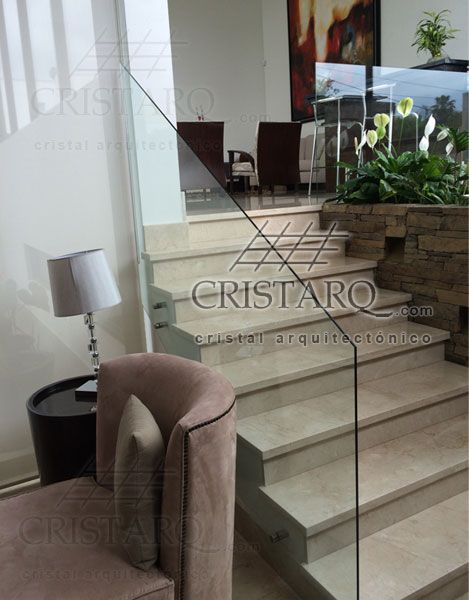 10 best barandales de cristal templado images on pinterest for Escaleras residenciales